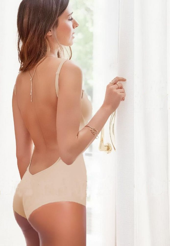 Backless Body Suit in Nude